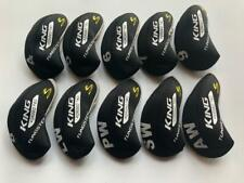 10PCS Club Headcovers for Cobra King Forged Tec Iron Covers 4-LW Black Red R/H