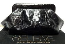 New Helene Black Genuine Crocodile Clutch Bag $3000rt