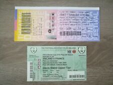 Tickets A/R matchs barrage COUPE DU MONDE FOOTBALL 2010 France - Irlande 2009