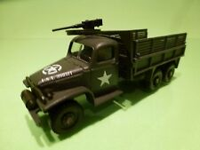 VEREM US MILITARY GMC CARRIER TRUCK + MITRAILLEUR - ARMY GREEN 1:50 - GOOD