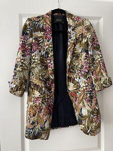 Zara basic floral blazer size XS