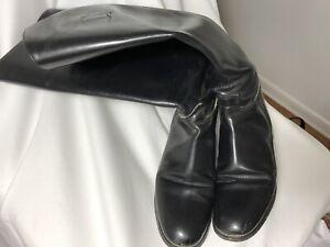 Black Marlborough Riding Boots Size 7