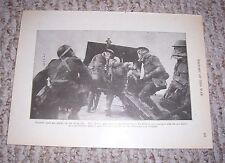 1922 Photogravure BRITISH GUN CREW GUNNERS IN GAS MASKS World War I Print