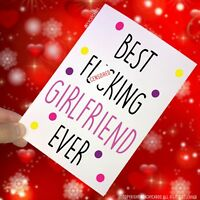 Girlfriend Card Valentines Birthday Mature Swearing Funny Gift Humour Cards PC45