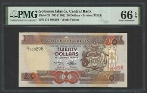 Solomon Islands 20 Dollars ND(1996) P21 Uncirculated Graded 66