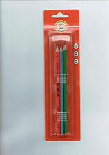 3 Bleistifte  von Koh-I-Noor, Graphitstifte, Härtegrade 1, 2, 3 Neu -