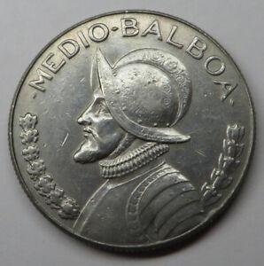 Panama 1/2 Balboa 1973 Copper-Nickel Clad Copper KM#12b UNC