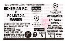 Ticket EC Bohemian Dublin - FC Levadia Maardu Tallinn 11.07.2001