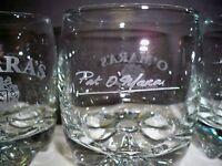 OMARA'S SET OF 4 IRISH Barware GLASSES- PAT O'HARA SIGNATURE