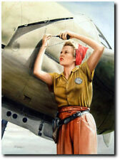 ROSIE AND THE FORK-TAILED DEVIL By Don Feight -  P-38 Lightning - Aviation Art