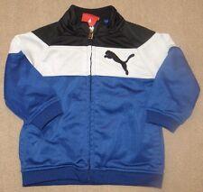 EUC PUMA Track Jacket Blue Black White Size 6-9 6 9 Months