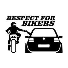 RESPECT FOR BIKERS Funny Car Sticker Decals Creative Window Waterproof 20*13cm