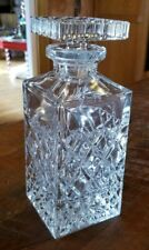 New listing Clear Glass Diamond Cut Whiskey Decanter With Stopper