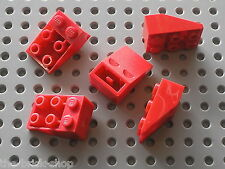 5 x LEGO red Slope Brick 33 3 x 2 Inverted 3747 / Set 5590 6542 8858 7727 6484..