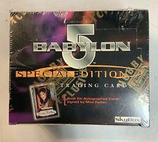 Babylon 5 Special Edition 1997 Fleer Skybox Sealed Box Signed Mira Furlan Cards