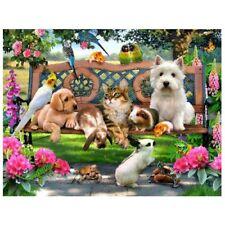 30 * 40cm DIY 5D Animal Diamond Painting Cat Dog Rabbit Pattern Diamond Cro P2F3