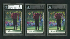 2001 Tiger Woods Upper Deck #1 Rookie RC BGS 8, 8.5, 9 Lot 3 Cards