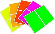 More details for rectangle label stickers, bright colours, 62x33mm-4 colours, pack of 192 labels
