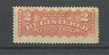 CANADA QV 2C ORANGE 1873-92 REGISTRATION STAMP SGR1 MOUNTED MINT