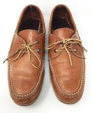 Mens Colorado Tan Leather Lace Up Boat Casual Shoes Size 11