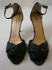 J. CREW ALEXIA BLACK 9 STRAPPY SANDALS SHOES SILK ITALY ANKLE STRAP 86770 $185