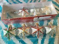 Glass Christmas Tree Ornaments Mini Molded 7 Martha Stewart's Collection Stars