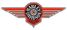 Autocollant Harley Davidson Fenêtre 35x14 Cm Window Décalque Sticker Fat Boy Logo XXL
