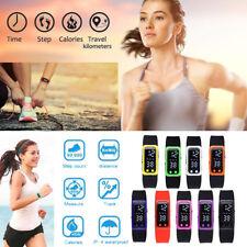 Digital LCD Run Step Walking Distance Calorie Counter Watch Bracelet