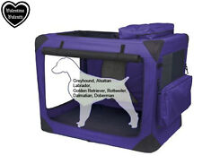 VALENTINA VALENTTI XXL PET FOLDING CARRIER TRANSPORT SOFT CRATE XXL PURPLE V8