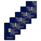 5x PAMP Suisse Fortuna 1g Gram Fine Gold Bar Bullion 999.9 - 5 Bars - FREE P&P