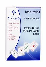 57 Cards Plastics Play Rook and Other Card Games NEW, Free Shipping
