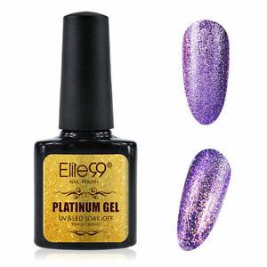 Elite99 Platinum Starry Glitter Gel Nail Polish Top Base Coat UV LED Manicure