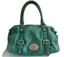 Fossil Green Distressed Pebbled Leather Shoulder Bag - Tote - Maddox