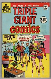 ARCHIE TRIPLE GIANT COMICS  1975  Glossy VG-F 160 Pages! 5 Archie Comics In One!