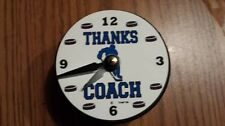 """""""Thanks Coach"""" Hockey Puck Clock Gift for Coach"""