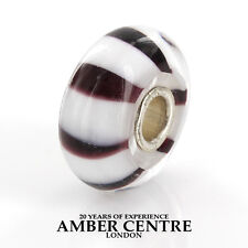 Trollbeads Silver 925S LAA Charm Black And White Stripes 61304 RRP£30!!!