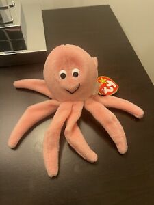 Rare Original 1993 Ty Inky The Octopus Beanie Baby With Errors, New Condition.