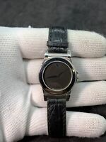 LADIES STAINLESS STEEL MOVADO BLACK DIAL MUSEUM SWISS STRAP WATCH 84-A1-838-2