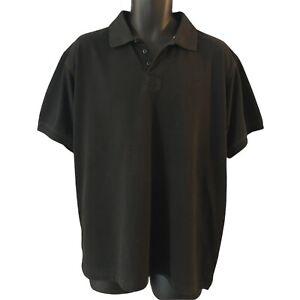 Jeep Men's Polo Shirt XXL Black Embroidered Logo Urban Utility