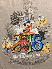 Walt Disney World 2016 Music Magic Memories Grey T Shirt Sz.L