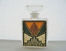 Rare SIGNED Sonia B CHANEL France BITTON Glass PERFUME BOTTLE Deco style BEADS