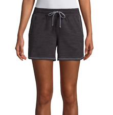 St. John's Bay Black Active Knit Pull-On Shorts New Size S, M, L, XL, XXL