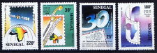 Senegal 1989 MNH 4v, Communication, Map, Satellite, Telephone (Q8n)