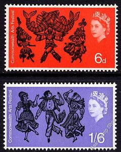 1965 Commonwealth Arts Festival Ordinary SG669 - 670 Complete Set Unmounted Mint