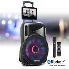 More details for 15-led karaoke machine speaker set system, wireless microphone lights, bluetooth