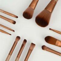 12pcs KABUKI PROFESSIONAL Make up Brushes Set Powder Foundation Blusher + Case