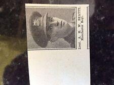 a1a ephemera 1917 ww1 small picture lt a h w beatty manchester regt