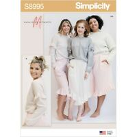 SIMPLICITY SEWING PATTERN S8995 MISSES' LOUNGE TROUSERS AND KNIT LOUNGE TOP