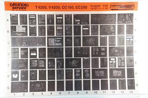 Grundig Service T4200, V4200, CC150, CC250 Hifi Verstärker Microfiche 1986 K206