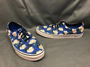 Vans Men's Era Casual Sneakers Canvas Romantic Floral Blue White Size 13 NWOB!